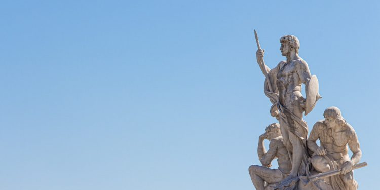Statue di soldati romani